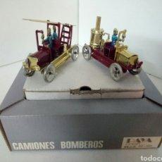 Juguetes antiguos de hojalata: CAMIONES DE BOMBEROS PAYA. Lote 96228300