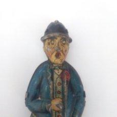 Juguetes antiguos de hojalata: HOMBRE DEL PARAGUAS CARRETA DE RICO .- PIEZA PARA RECAMBIO DE LA CARRETA. Lote 97271122