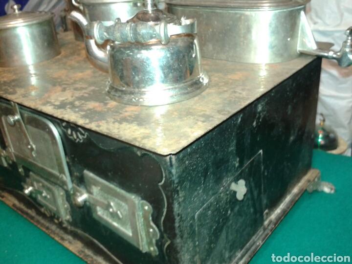 Juguetes antiguos de hojalata: ANTIGUA COCINITA CHAPA PS XX - Foto 5 - 97352728