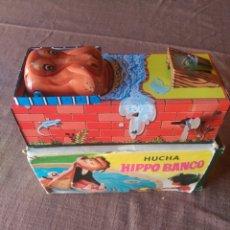 Altes Blechspielzeug - Hucha - Hippo Banco - 98208444