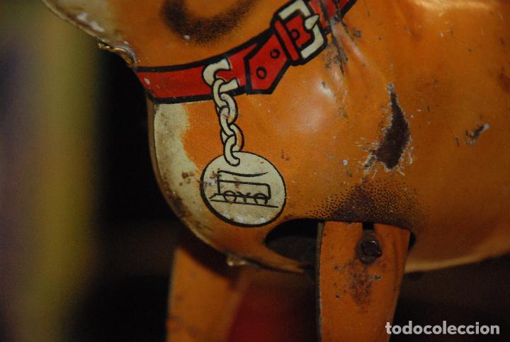 Juguetes antiguos de hojalata: ANTIGUO PERRO BULDOG DE HOJALATA PAYÁ - Foto 7 - 98500791
