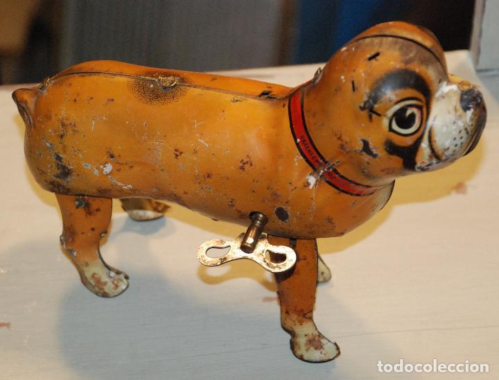 Juguetes antiguos de hojalata: ANTIGUO PERRO BULDOG DE HOJALATA PAYÁ - Foto 10 - 98500791
