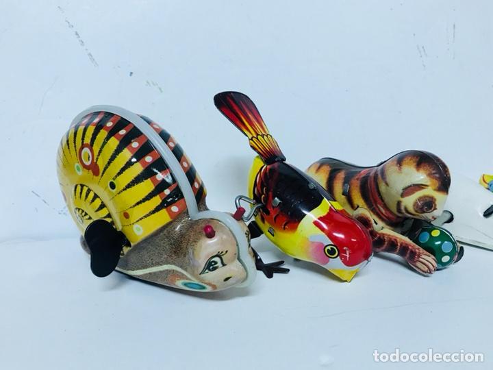 Juguetes antiguos de hojalata: Lote de 5 animales juguete Hojalata a cuerda - Foto 2 - 98895335