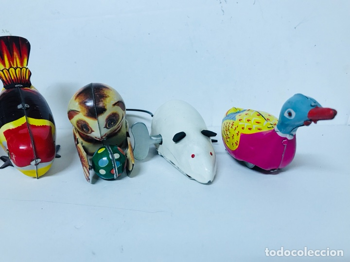 Juguetes antiguos de hojalata: Lote de 5 animales juguete Hojalata a cuerda - Foto 3 - 98895335