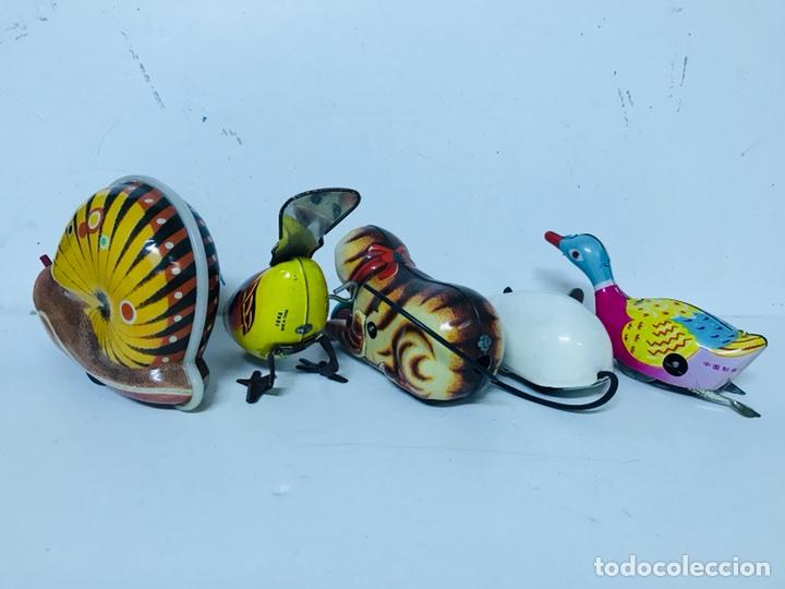 Juguetes antiguos de hojalata: Lote de 5 animales juguete Hojalata a cuerda - Foto 4 - 98895335