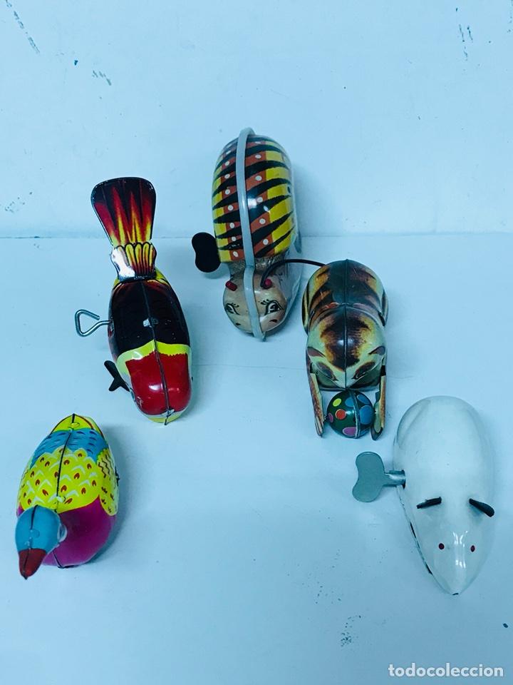 Juguetes antiguos de hojalata: Lote de 5 animales juguete Hojalata a cuerda - Foto 5 - 98895335