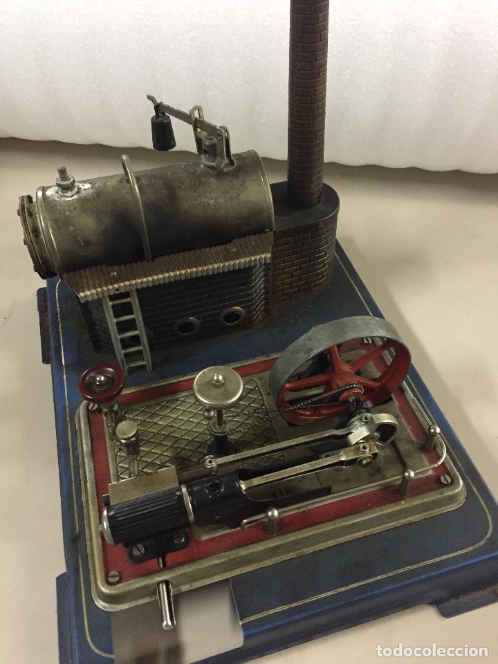 Juguetes antiguos de hojalata: Fabrica, planta de vapor. WILESCO. STACIONARY ENGINE. - Foto 2 - 99239195
