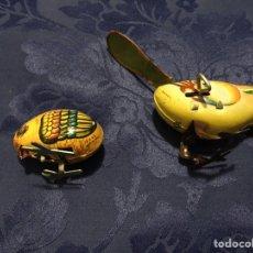Juguetes antiguos de hojalata: LOTE 2 JUGUETES DE HOJALATA. Lote 100539360