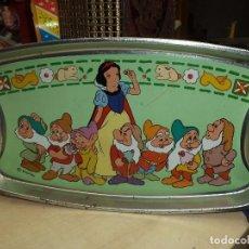 Juguetes antiguos de hojalata - Bandeja hojalata Disney Blancanieves años 60. - 101019139