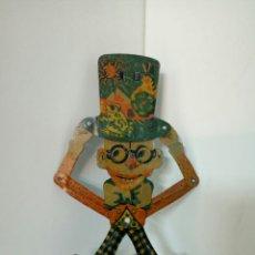 Juguetes antiguos de hojalata - ESPECIAL HALLOWEEN TESOROS DE HOJALATA: TESORA BONECO DE CHAPEU ALTO AÑOS 20 - 101321047