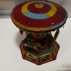 Juguetes antiguos de hojalata: TIOVIVO CARRUSEL PAYÁ ORIGINAL 1930 -REBAJADO-. Lote 102064935
