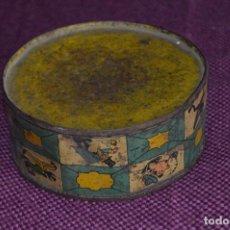 Juguetes antiguos de hojalata: ANTIGUO TAMBOR DE HOJALATA LITOGRAFIADO - MARCA REY DE VIGO - AÑOS 30/40 - VINTAGE - HAZ OFERTA. Lote 102352423
