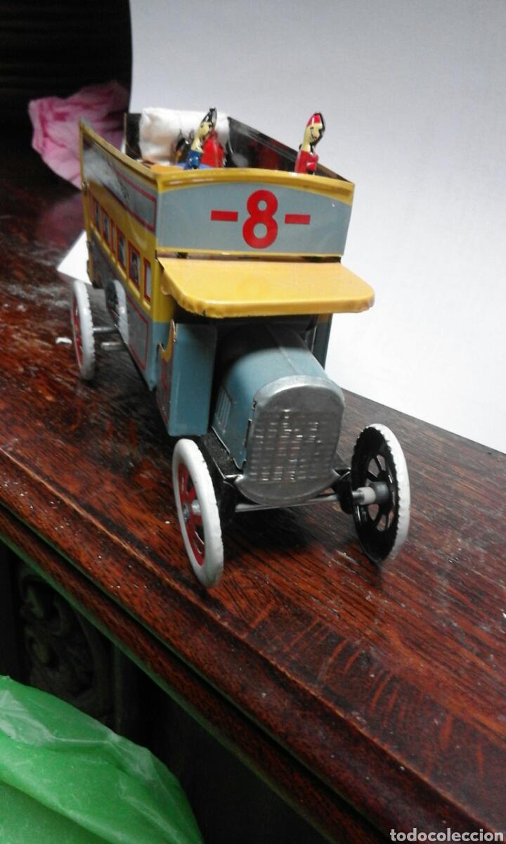 Juguetes antiguos de hojalata: juguete de lata caja original - Foto 2 - 103037963