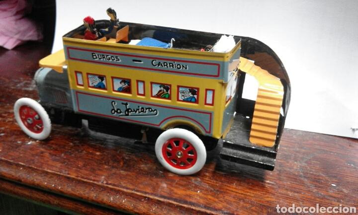 Juguetes antiguos de hojalata: juguete de lata caja original - Foto 3 - 103037963