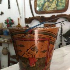 Juguetes antiguos de hojalata: CUBO ANTIGUO DE HOJALATA TIPO PAYA,RICO,JYESA. Lote 103116250