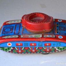 Juguetes antiguos de hojalata: ANTIGUO TANQUE DE HOJALATA DE JAVA. Lote 104447142