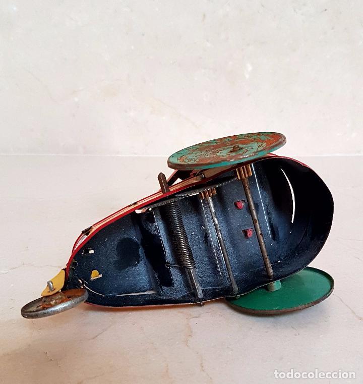Juguetes antiguos de hojalata: MUY BONITO JUGUETE DE LATA A CUERDA,PAYASO EN TRICICLO,AÑOS 40-50 - Foto 5 - 103966707