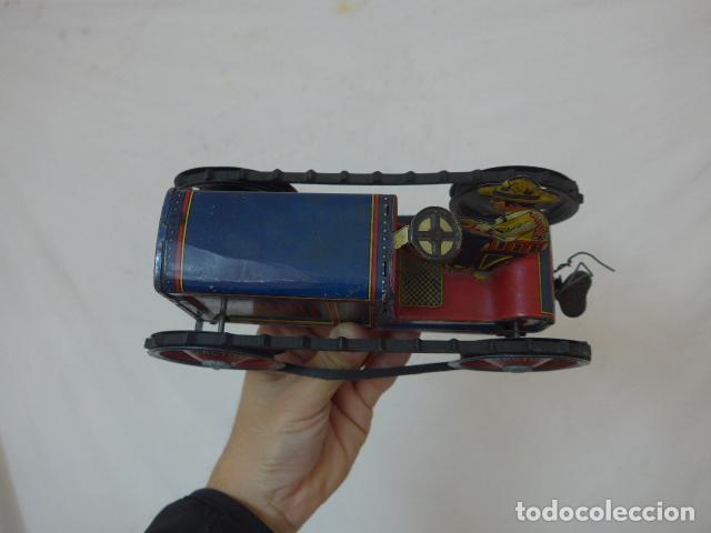 Juguetes antiguos de hojalata: Antiguo tractor de hojalata original de Paya. No es de Rico ni schuco. - Foto 6 - 104217379