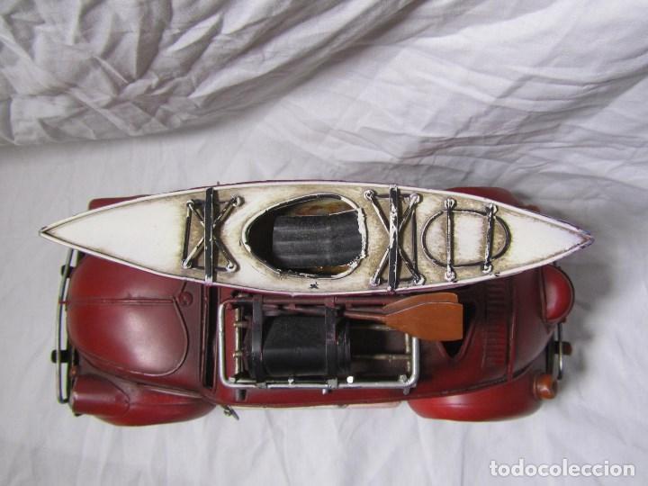 Juguetes antiguos de hojalata: Coche de hojalata Volkswagen escarabajo 31 centímetros de largo - Foto 5 - 104475015