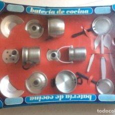 Juguetes antiguos de hojalata: BATERÍA DE COCINA PURAMA AÑOS 70. Lote 104669683