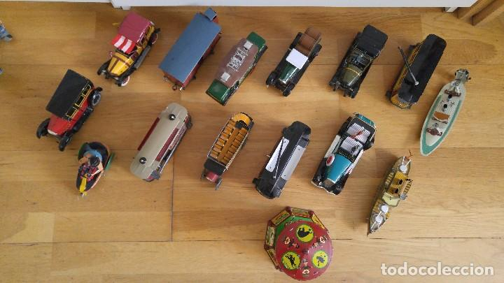 Juguetes antiguos de hojalata: Lote 25 juguetes lata - Foto 3 - 104742299