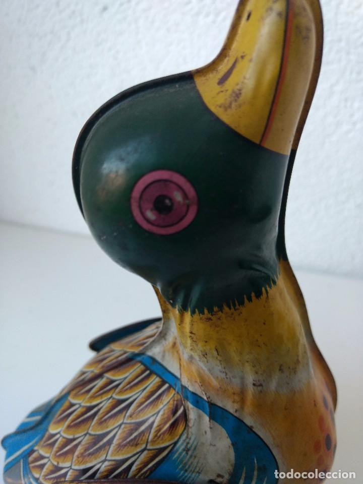 Juguetes antiguos de hojalata: Pato de hojalata YONE MADE IN JAPAN - Foto 6 - 105109195