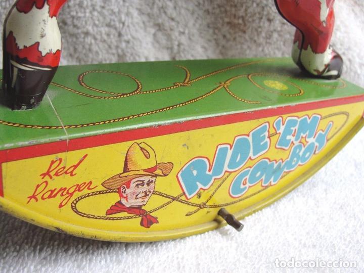 Juguetes antiguos de hojalata: Precioso raro vaquero hojalata año 1930 Red Ranger Wyandott simil paya made USA firmado Precio: 431 - Foto 2 - 105151379