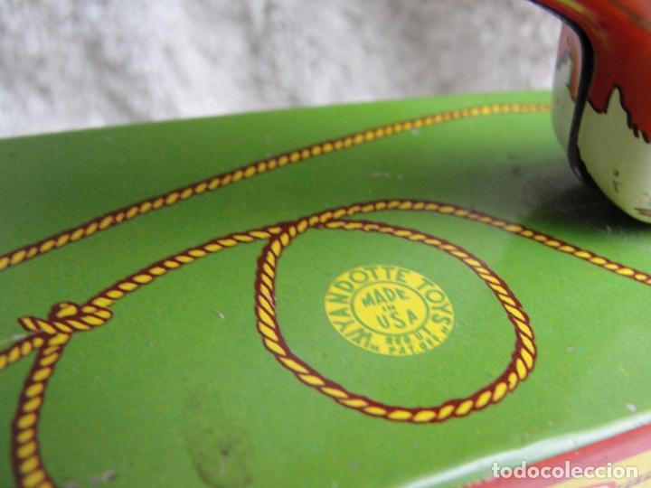 Juguetes antiguos de hojalata: Precioso raro vaquero hojalata año 1930 Red Ranger Wyandott simil paya made USA firmado Precio: 431 - Foto 3 - 105151379
