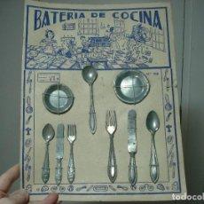 Juguetes antiguos de hojalata: BATERIA DE COCINA AÑOS 40. Lote 106362223