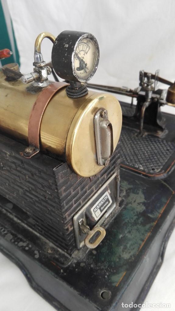 Juguetes antiguos de hojalata: MARKLIN FABRICA DE VAPOR MODELO Nº5 - Foto 4 - 107380207