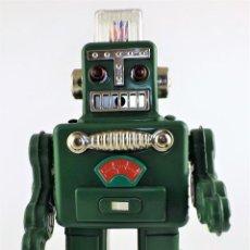 Juguetes antiguos de hojalata: ROBOT AUTÓMATA. SMOKING SPACEMAN. Lote 108404111