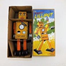 Juguetes antiguos de hojalata: ROBOT LILIPUT. Lote 112391911