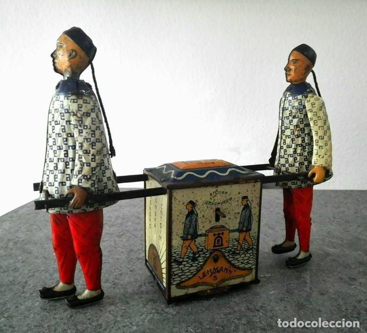 CHINOS KADI DE LEHMANN 1917 MODELO EPL 723 FUNCIONANDO (Juguetes - Juguetes Antiguos de Hojalata Extranjeros)