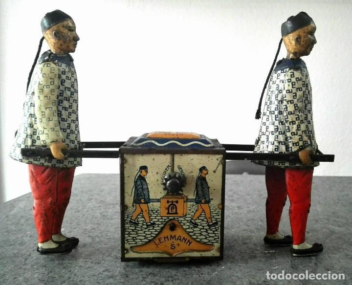Juguetes antiguos de hojalata: CHINOS KADI DE LEHMANN 1917 MODELO EPL 723 FUNCIONANDO - Foto 2 - 109576731