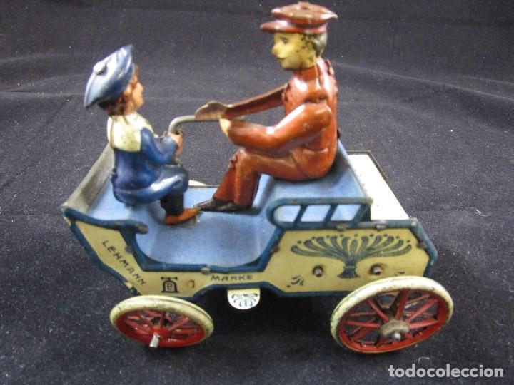 Juguetes antiguos de hojalata: LEHMANN NAUGHTY BOY 1920 FUNCIONANDO - Foto 2 - 109581251
