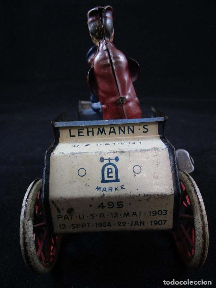 Juguetes antiguos de hojalata: LEHMANN NAUGHTY BOY 1920 FUNCIONANDO - Foto 3 - 109581251