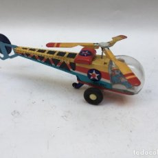 Juguetes antiguos de hojalata: HELICOPTERO A FRICCION , MADE IN CHINA 1970, HOJALATA . Lote 109881919