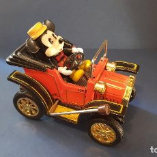 Juguetes antiguos de hojalata: COCHE DE HOJALATA MICKEY MOUSSE (1981) MADE IN JAPAN. Lote 111180099