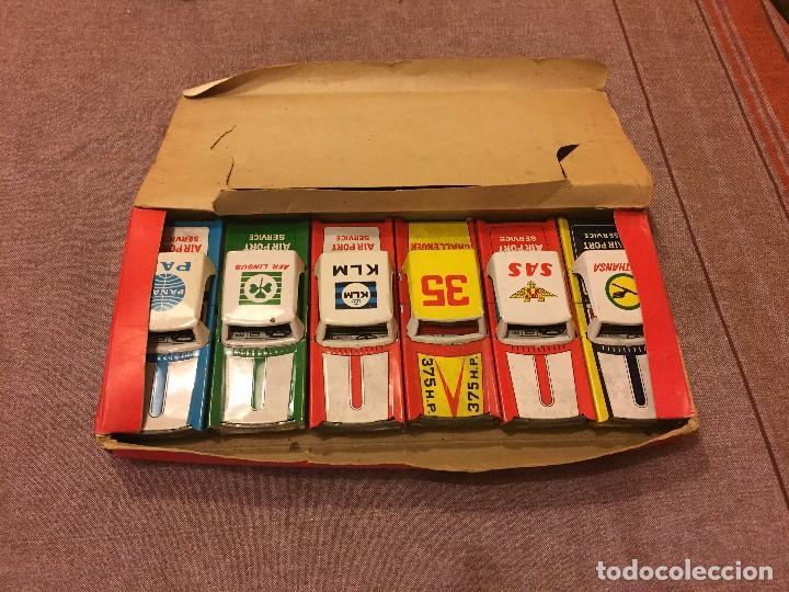 Juguetes antiguos de hojalata: CONJUNTO 6 COCHES HOJALATA AÑOS 50-60 - Foto 2 - 111531527
