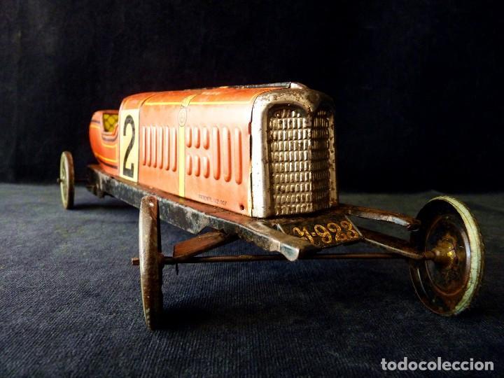 Juguetes antiguos de hojalata: COCHE BUGATTI Y-926(2) HERMANOS PAYÁ. IBI, 1932. HOJALATA 36 cm. COMPLETAMENTE ORIGINAL - Foto 2 - 111668931