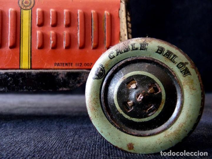 Juguetes antiguos de hojalata: COCHE BUGATTI Y-926(2) HERMANOS PAYÁ. IBI, 1932. HOJALATA 36 cm. COMPLETAMENTE ORIGINAL - Foto 5 - 111668931