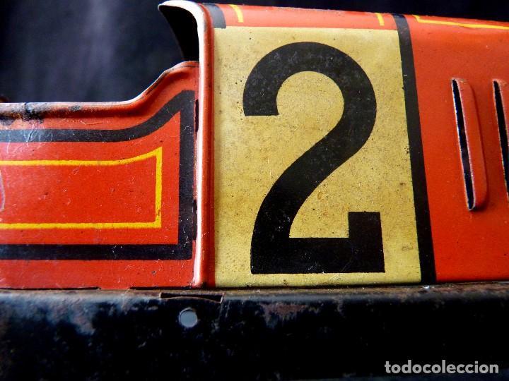 Juguetes antiguos de hojalata: COCHE BUGATTI Y-926(2) HERMANOS PAYÁ. IBI, 1932. HOJALATA 36 cm. COMPLETAMENTE ORIGINAL - Foto 6 - 111668931