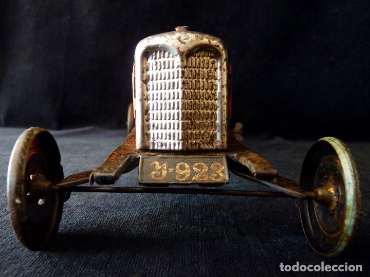Juguetes antiguos de hojalata: COCHE BUGATTI Y-926(2) HERMANOS PAYÁ. IBI, 1932. HOJALATA 36 cm. COMPLETAMENTE ORIGINAL - Foto 7 - 111668931