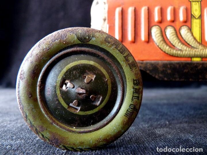 Juguetes antiguos de hojalata: COCHE BUGATTI Y-926(2) HERMANOS PAYÁ. IBI, 1932. HOJALATA 36 cm. COMPLETAMENTE ORIGINAL - Foto 8 - 111668931