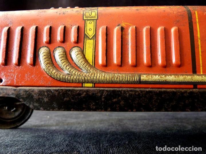 Juguetes antiguos de hojalata: COCHE BUGATTI Y-926(2) HERMANOS PAYÁ. IBI, 1932. HOJALATA 36 cm. COMPLETAMENTE ORIGINAL - Foto 11 - 111668931