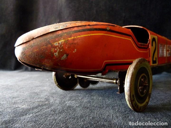 Juguetes antiguos de hojalata: COCHE BUGATTI Y-926(2) HERMANOS PAYÁ. IBI, 1932. HOJALATA 36 cm. COMPLETAMENTE ORIGINAL - Foto 13 - 111668931