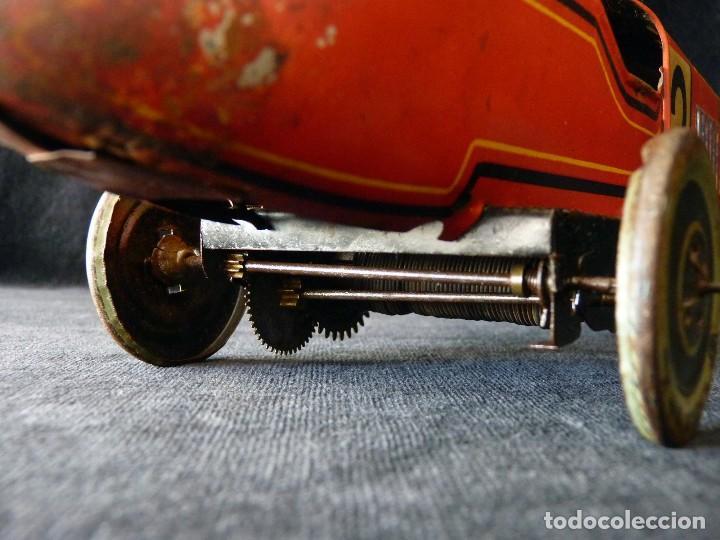 Juguetes antiguos de hojalata: COCHE BUGATTI Y-926(2) HERMANOS PAYÁ. IBI, 1932. HOJALATA 36 cm. COMPLETAMENTE ORIGINAL - Foto 15 - 111668931