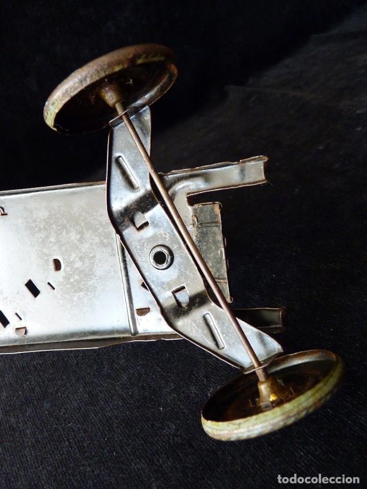 Juguetes antiguos de hojalata: COCHE BUGATTI Y-926(2) HERMANOS PAYÁ. IBI, 1932. HOJALATA 36 cm. COMPLETAMENTE ORIGINAL - Foto 18 - 111668931