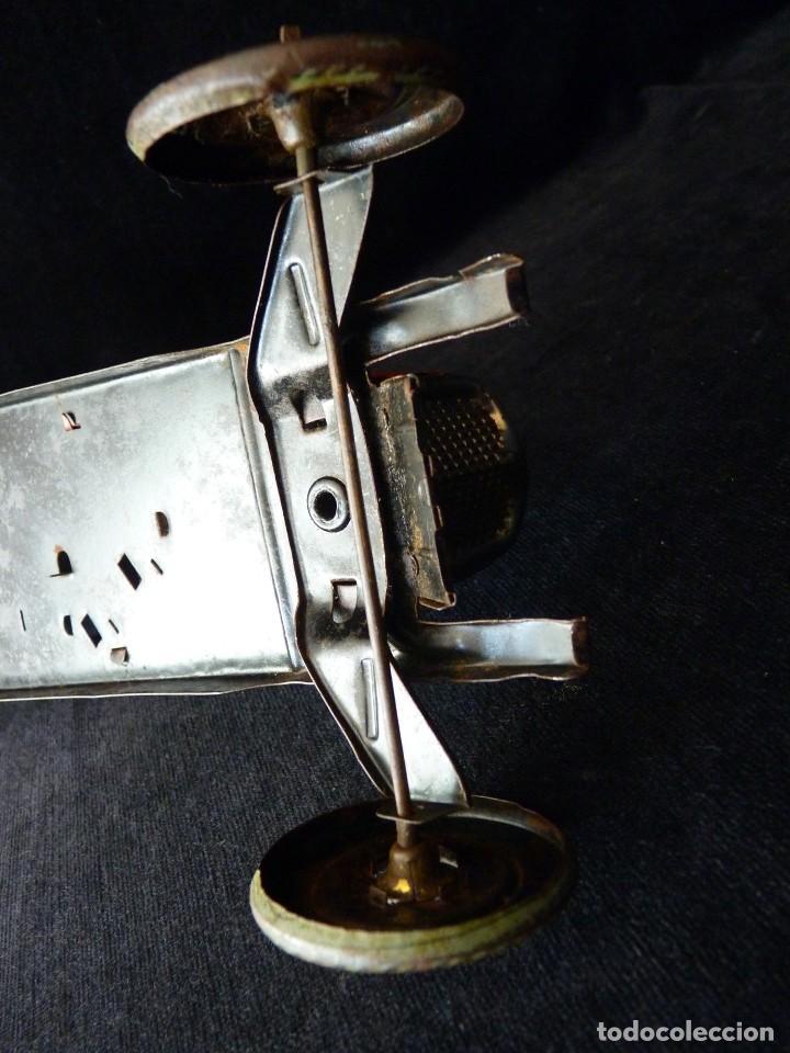 Juguetes antiguos de hojalata: COCHE BUGATTI Y-926(2) HERMANOS PAYÁ. IBI, 1932. HOJALATA 36 cm. COMPLETAMENTE ORIGINAL - Foto 19 - 111668931