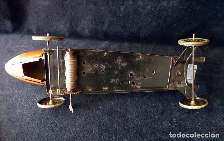 Juguetes antiguos de hojalata: COCHE BUGATTI Y-926(2) HERMANOS PAYÁ. IBI, 1932. HOJALATA 36 cm. COMPLETAMENTE ORIGINAL - Foto 20 - 111668931